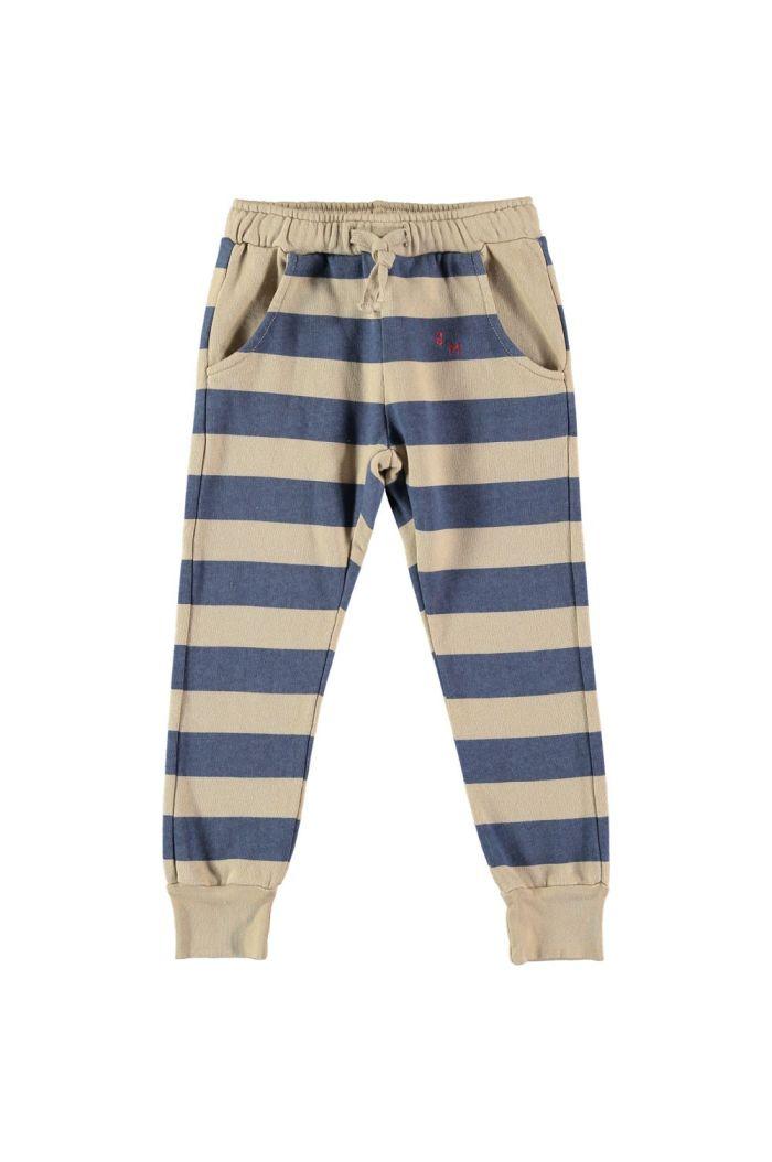 Bonmot Fleece trouser stripes  Fog_1
