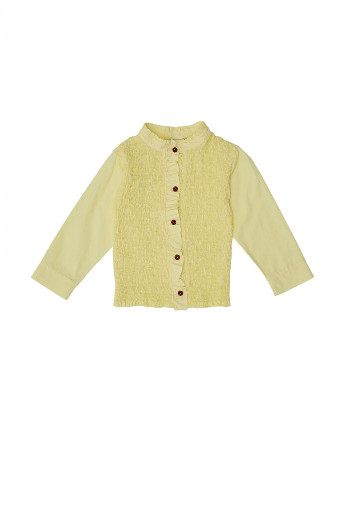 The Campamento Yellow Smocked Shirt Yellow_1