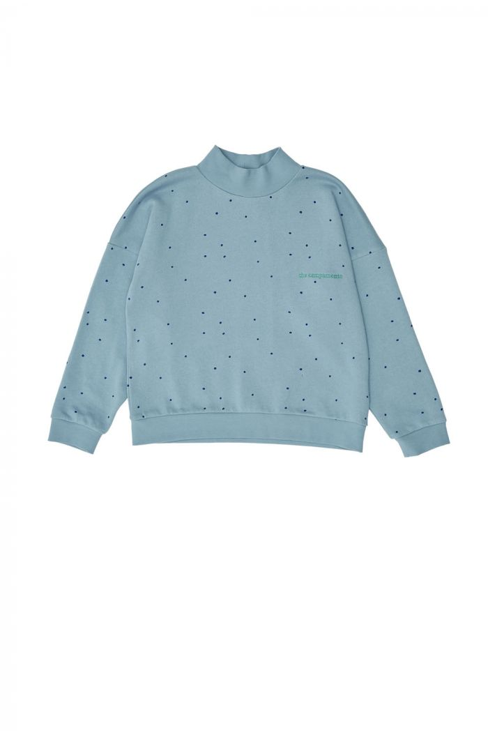 The Campamento Dots Sweatshirt Blue_1