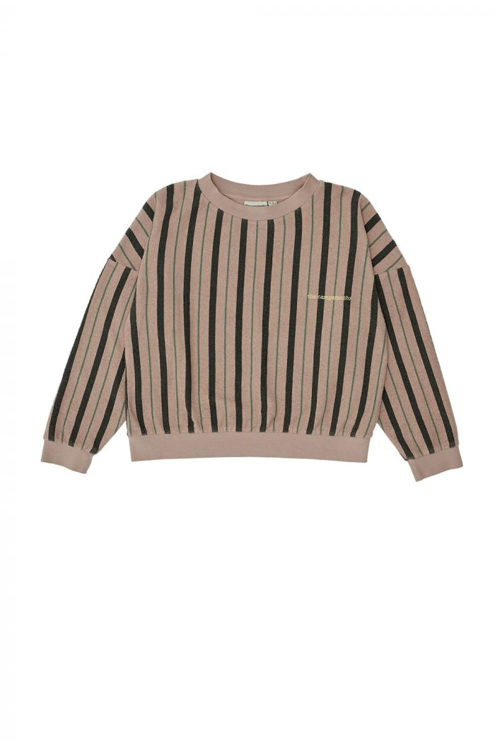 The Campamento Stripes Sweatshirt Pink_1