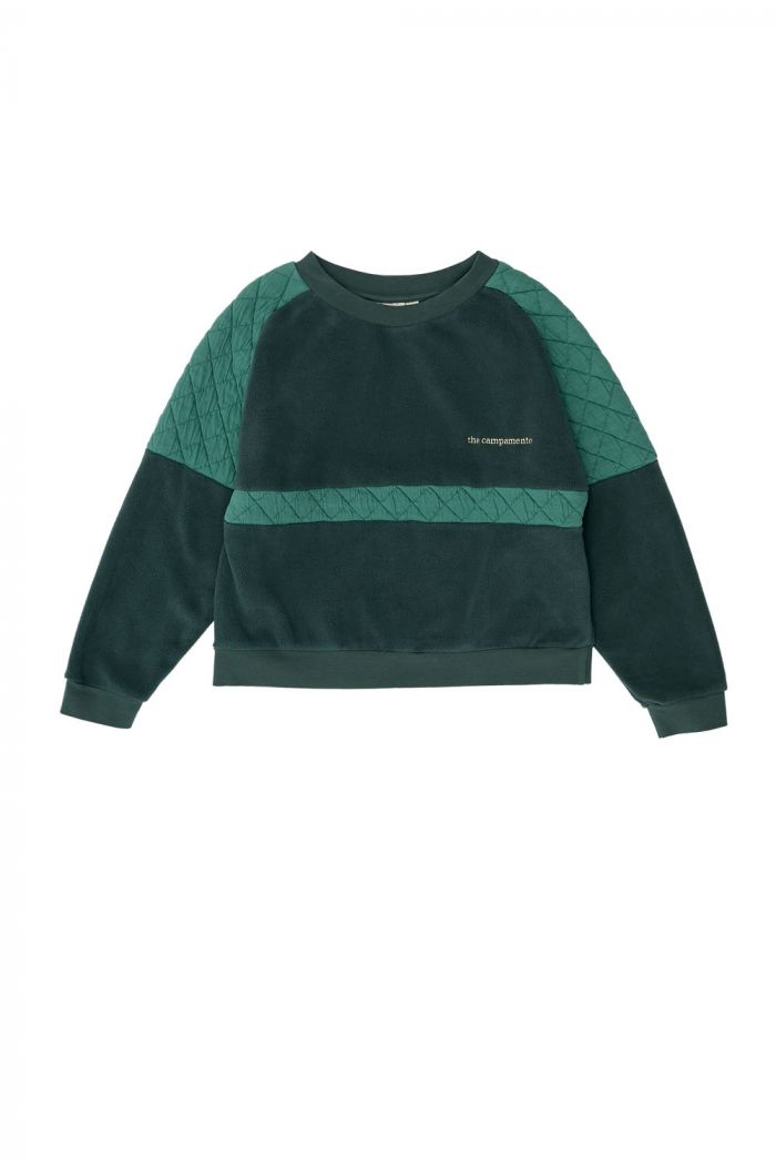 The Campamento Green Contrasted Sweatshirt Green_1