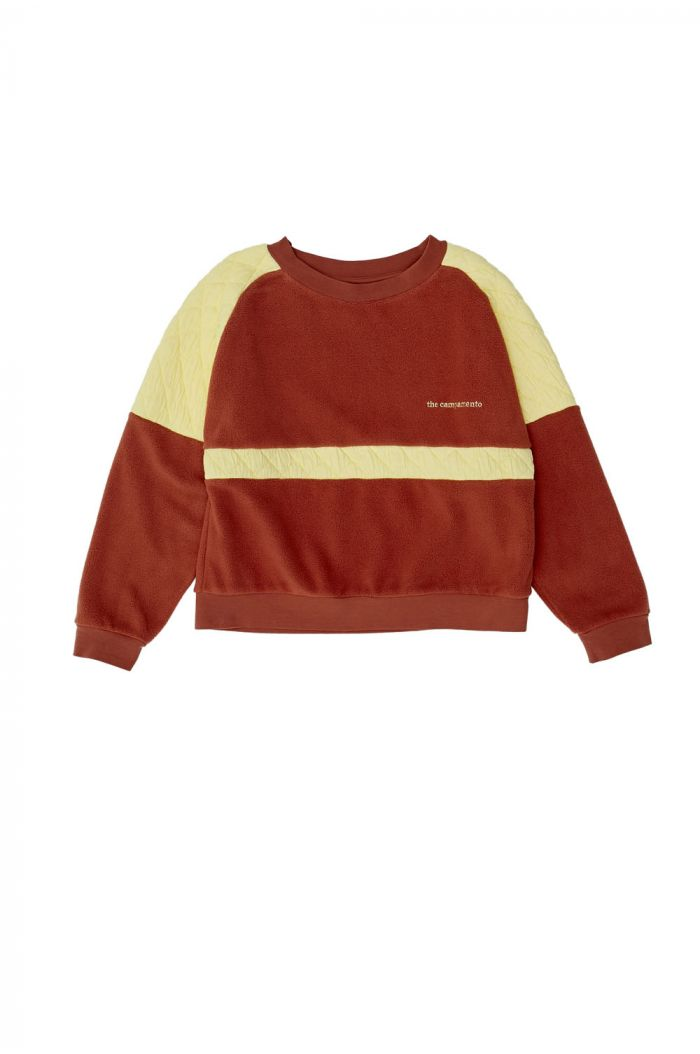 The Campamento Brown Contrasted Sweatshirt Brown_1