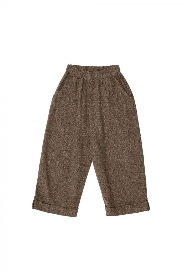 The Campamento Culotte Trousers Brown_1