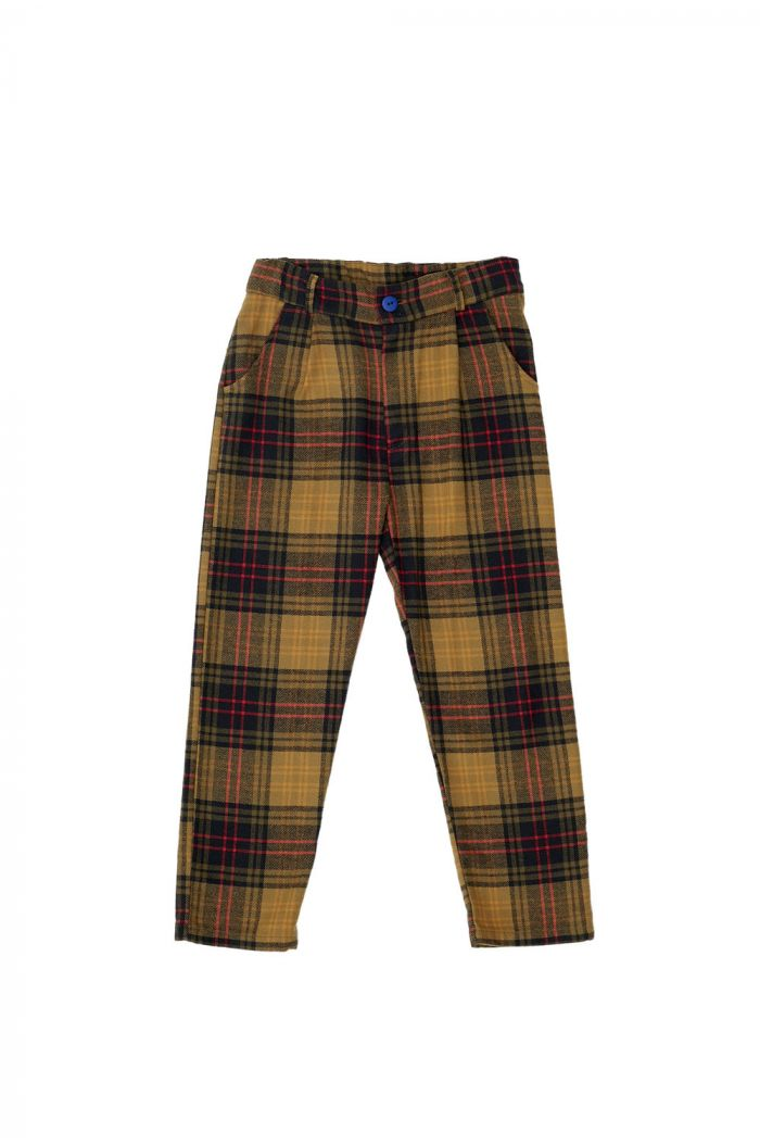 The Campamento Checked Trousers Yellow_1