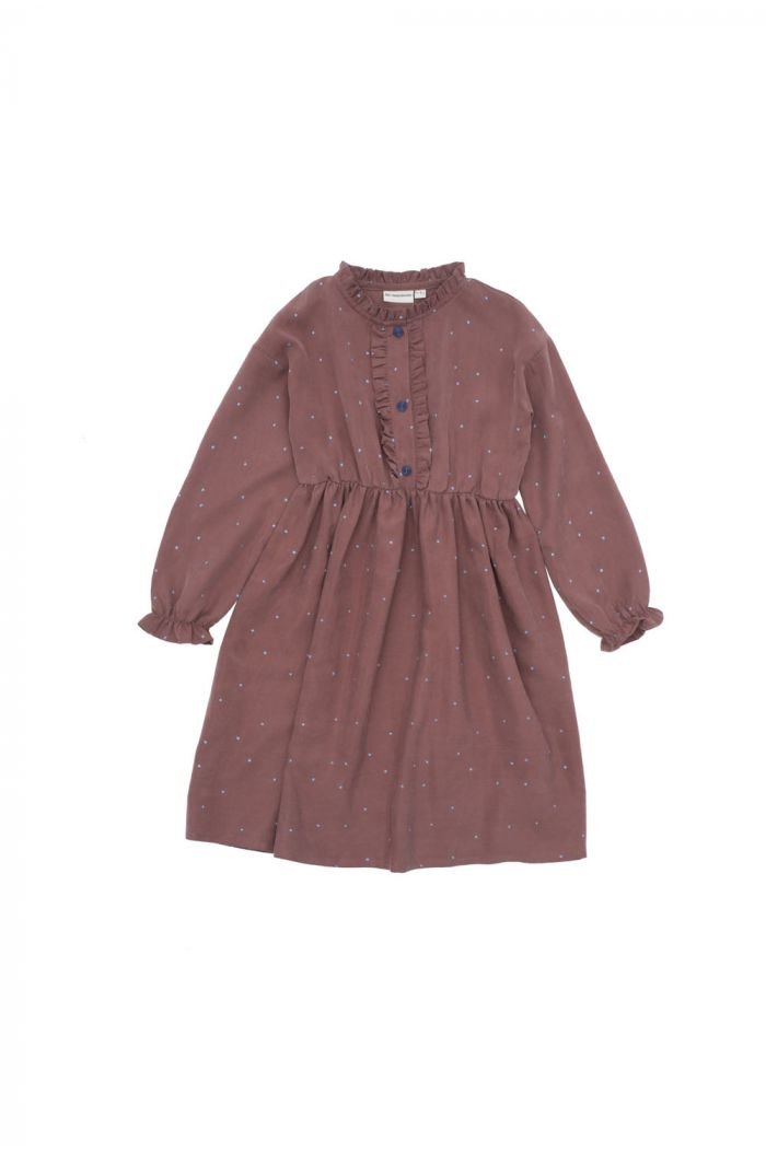 The Campamento Dots Dress Purple_1