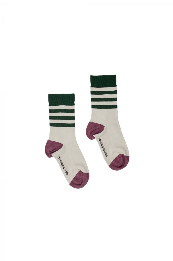 The Campamento Stripes Socks White_1