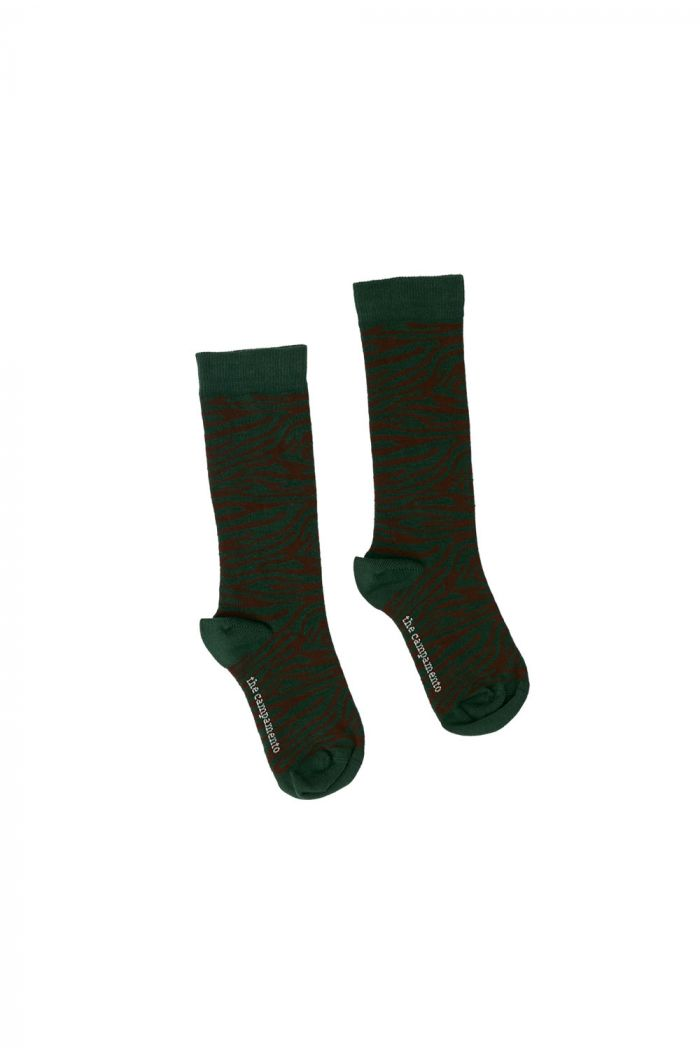 The Campamento Zebra Socks Green_1