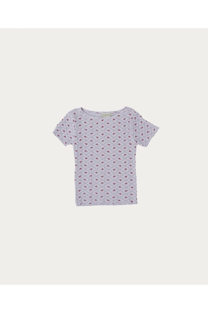 The Campamento Checks And Flowers T-shirt Purple_1