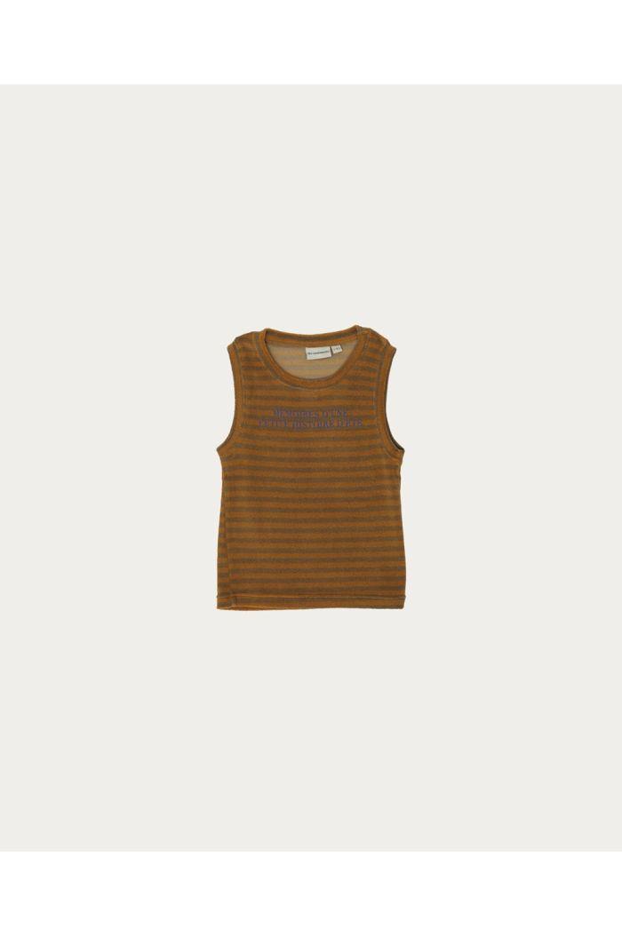 The Campamento Striped Sleveless T-shirt Orange_1