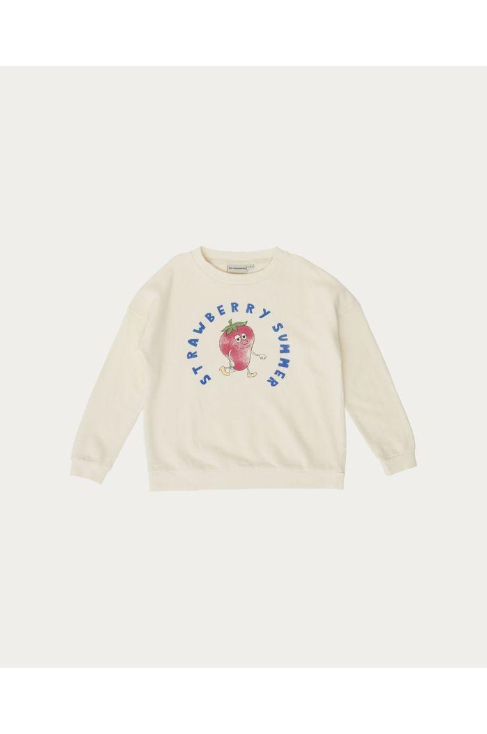 The Campamento Strawberry Sweatshirt White_1