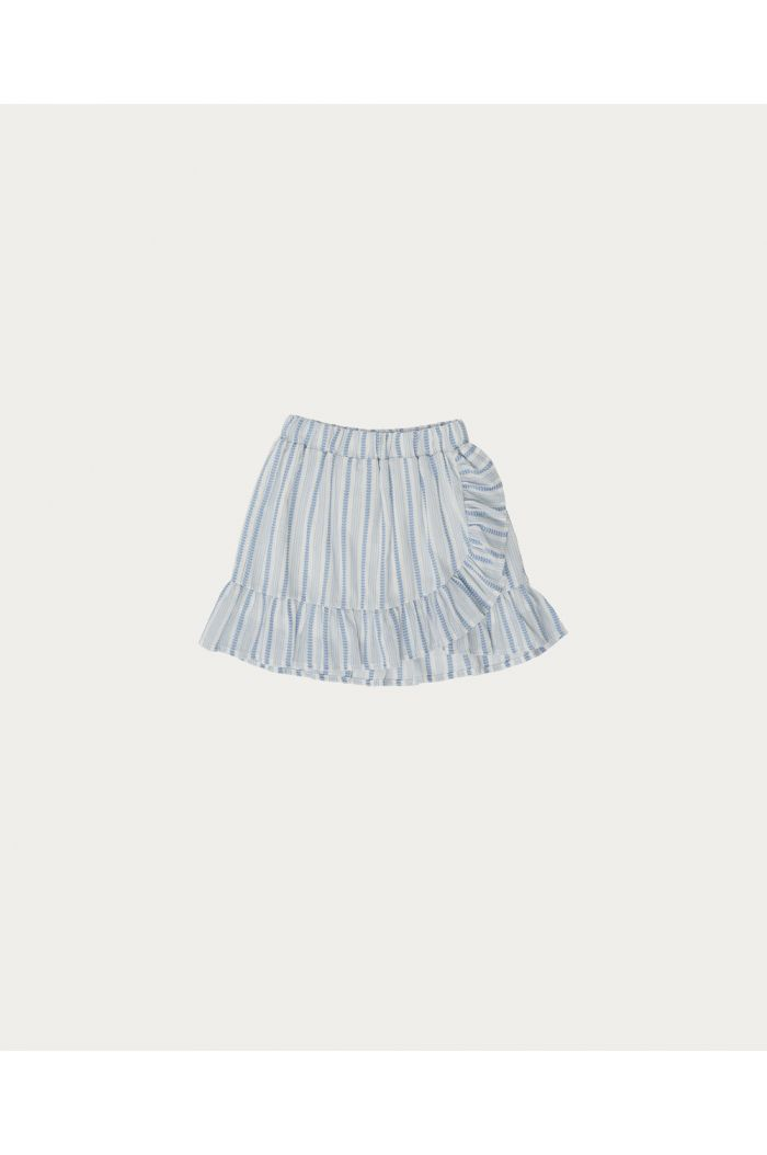 The Campamento Striped Skirt White_1