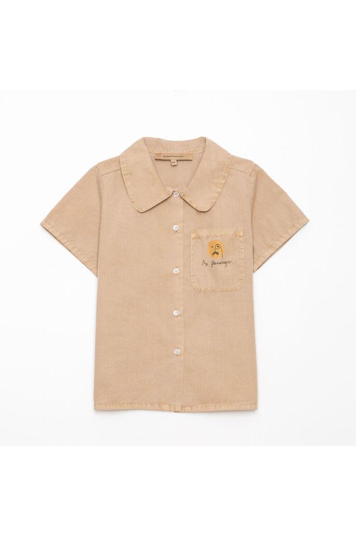 Weekend House Kids Flamingo Shirt Camel_1