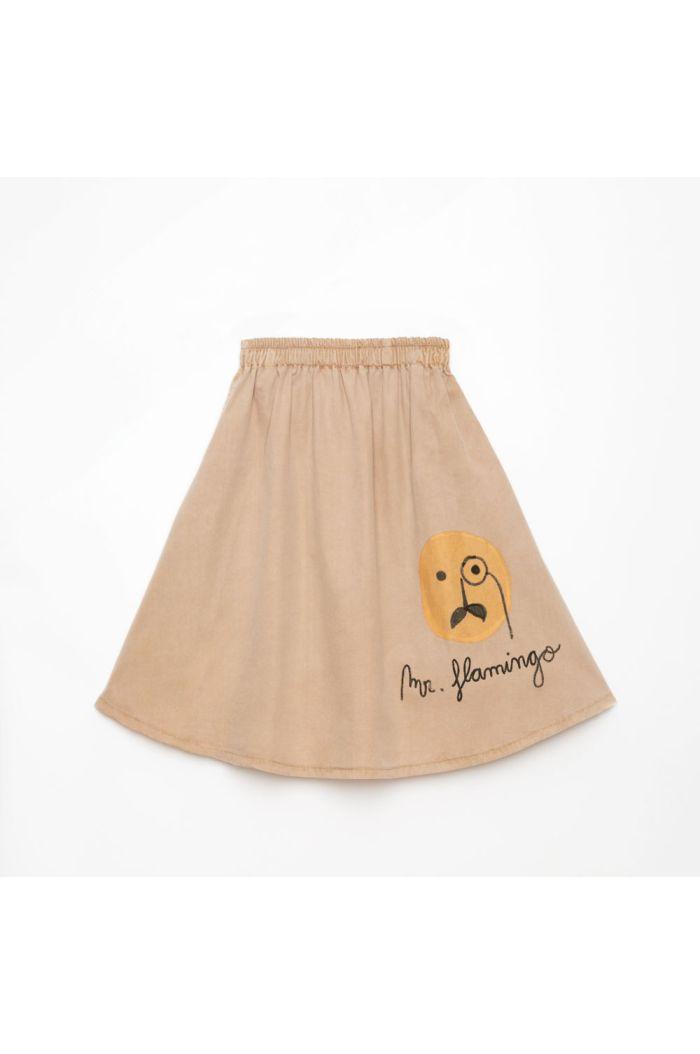 Weekend House Kids Flamingo Skirt Camel_1