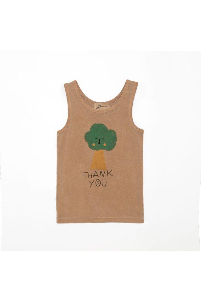 Weekend House Kids Tree tank top Camel_1