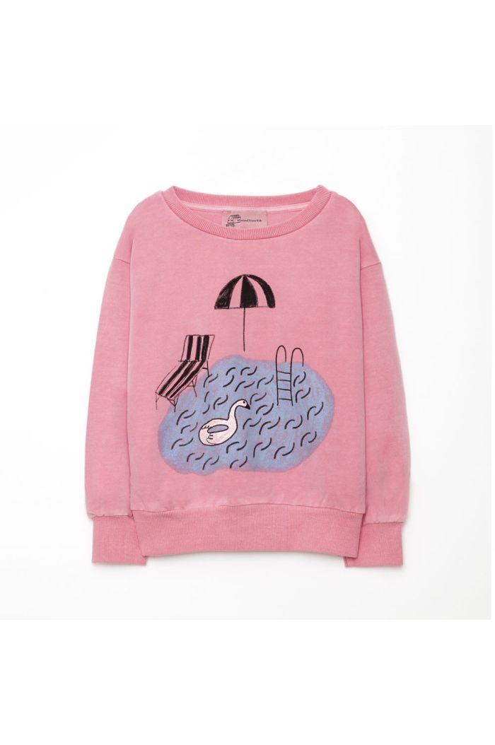 Weekend House Kids Pool sweat shirt Pink_1