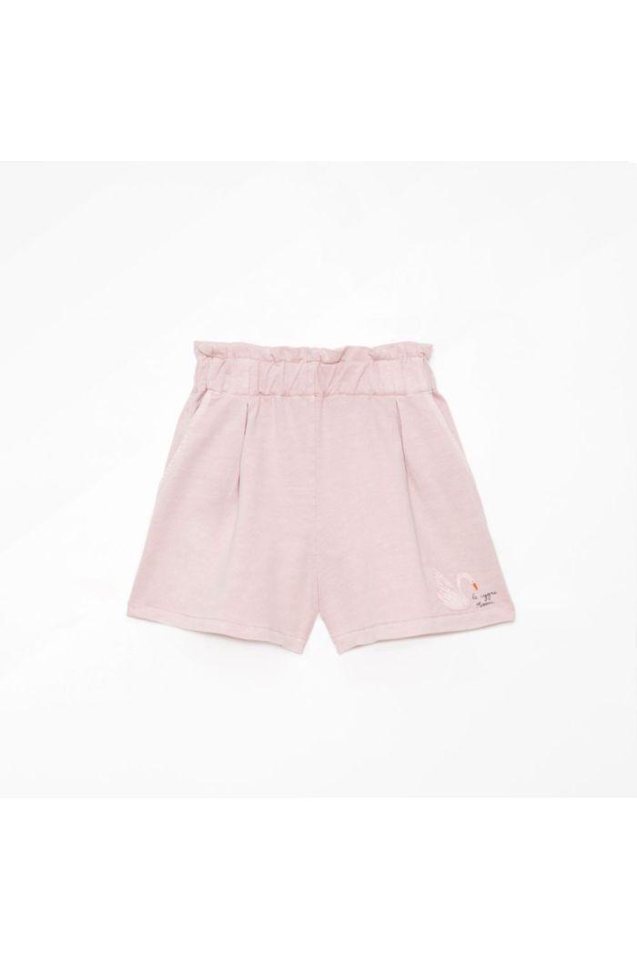 Weekend House Kids Swan shorts Pastel Pink_1