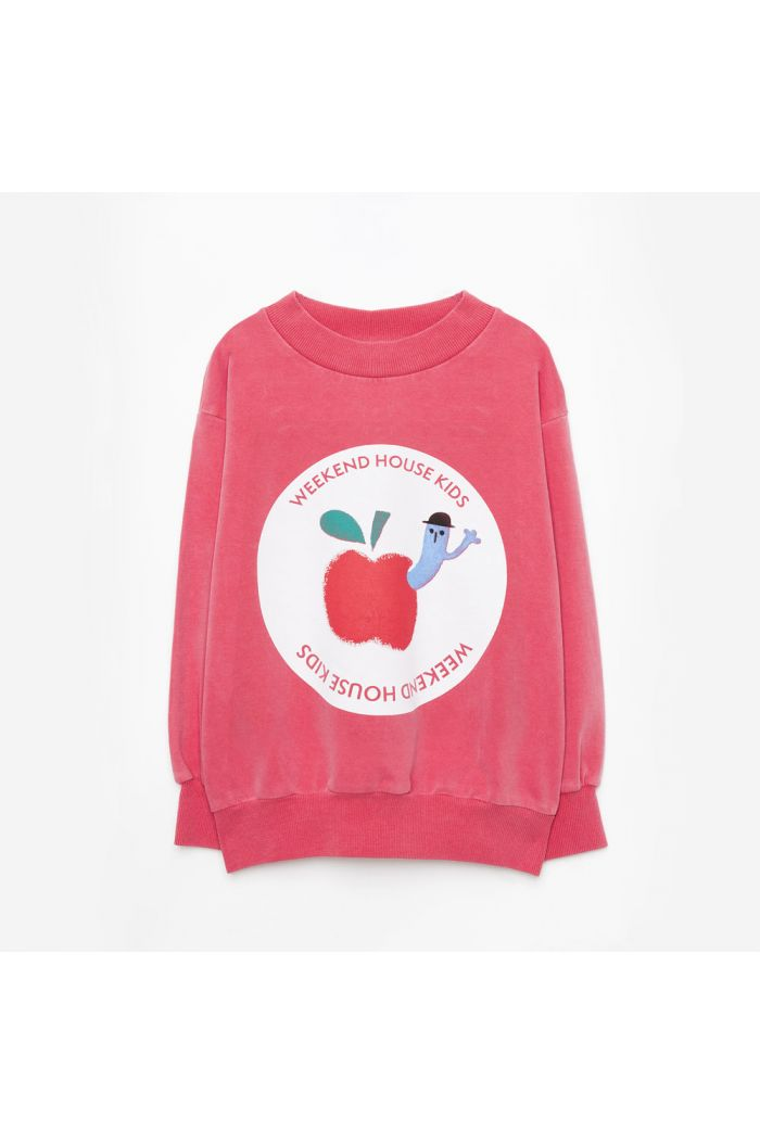 Weekend House Kids Red Apple sweatshirt Red_1