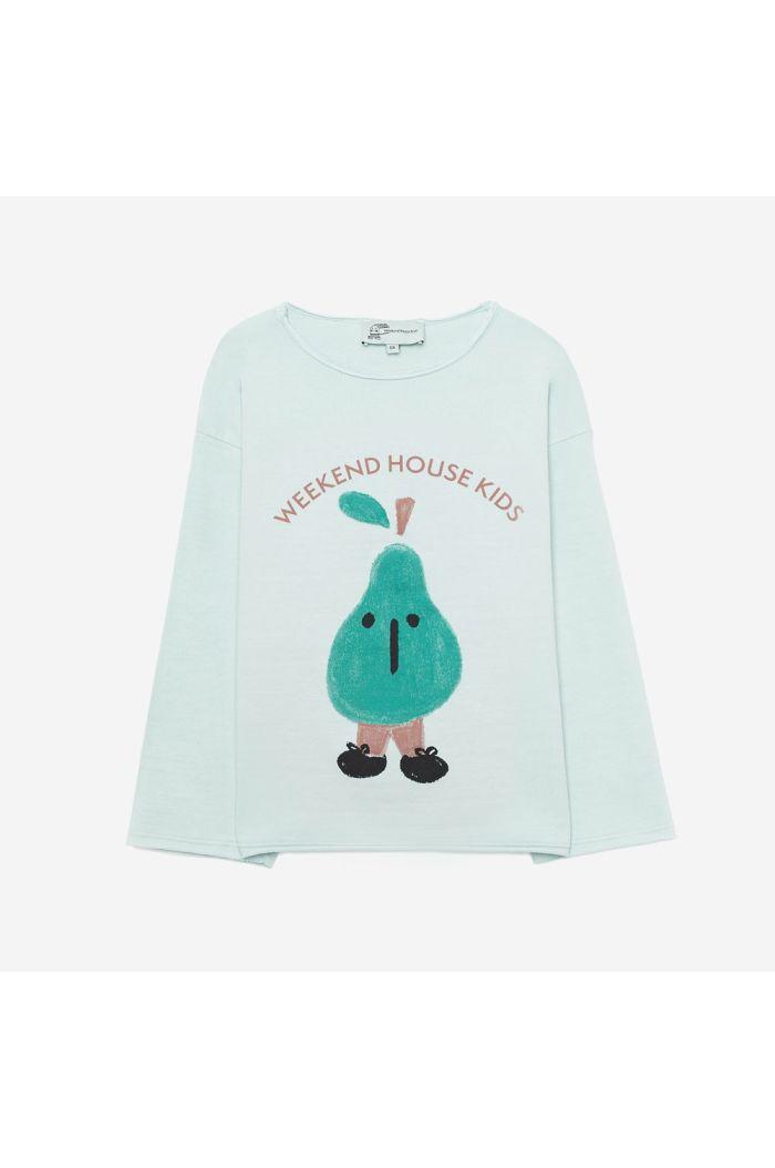 Weekend House Kids Pear sweatshirt Pastel green_1