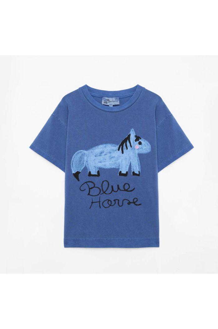 Weekend House Kids Blue Horse t-shirt Blue_1