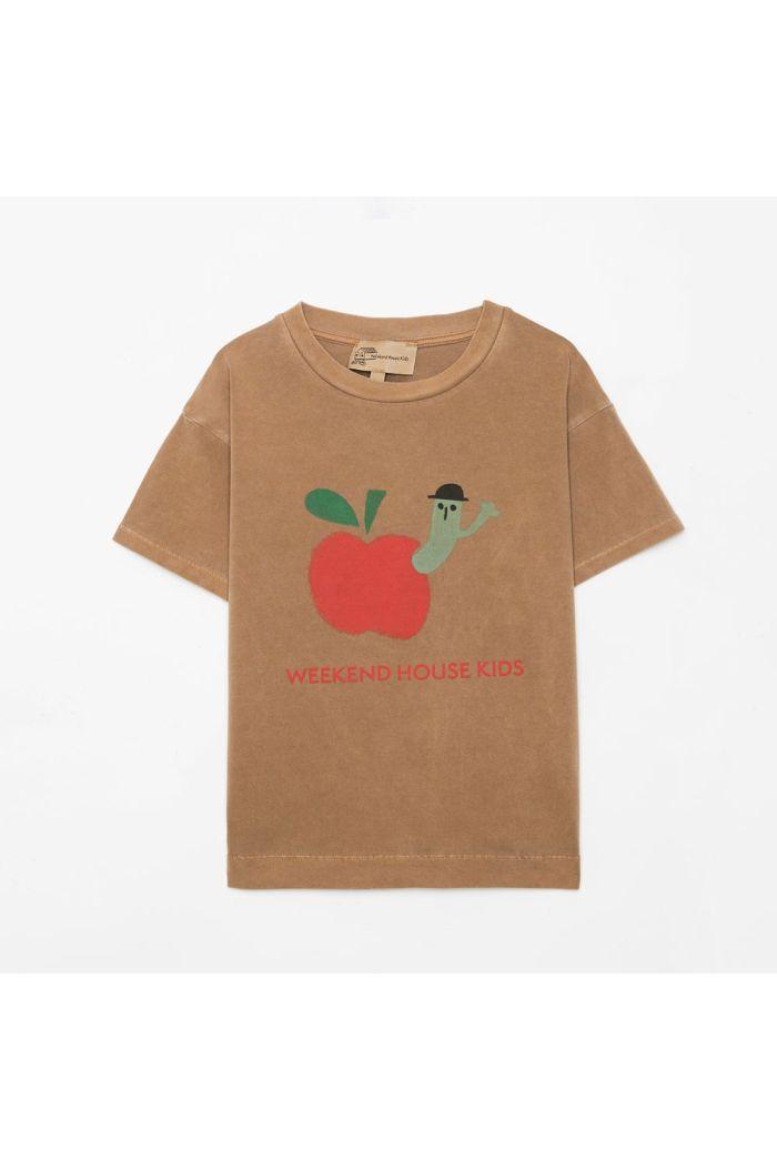 Weekend House Kids Apple t-shirt Camel_1