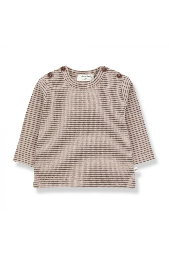 1+ in the family JASPER t-shirt rose/terrau_1