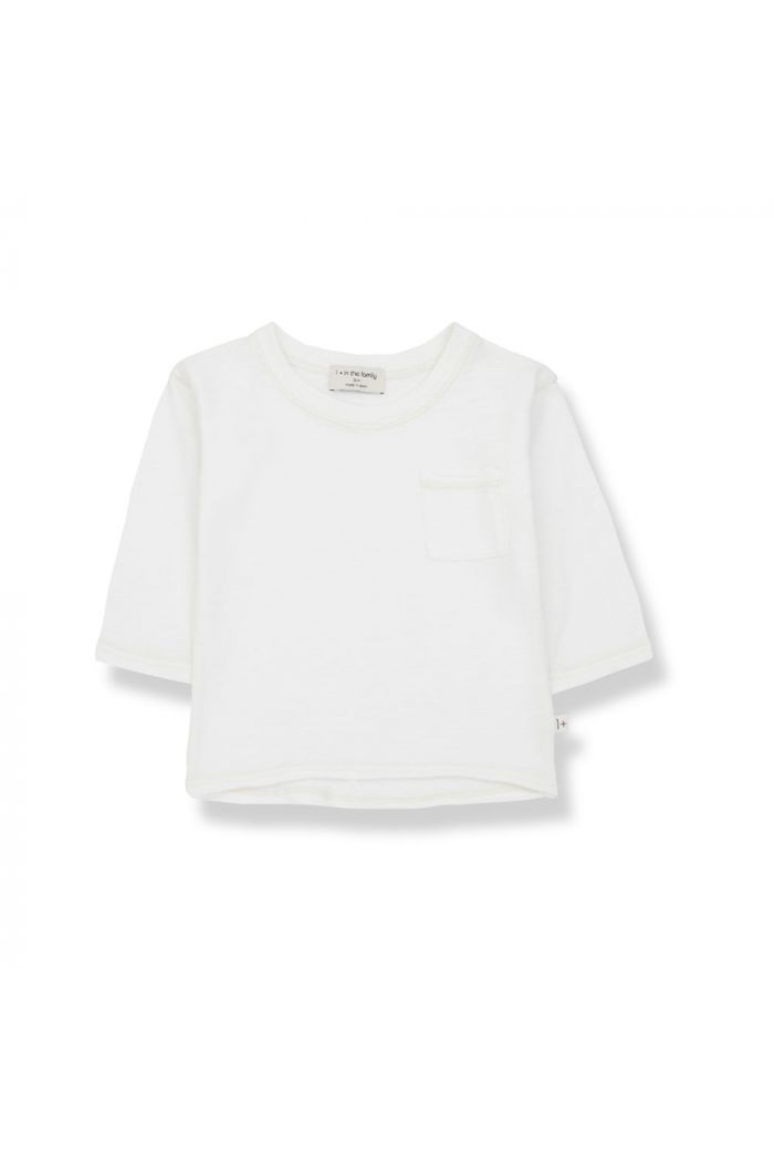 1+ in the family PERE Long Sleeve T-Shirt Off-White_1