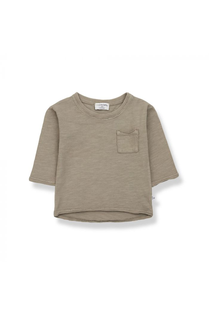 1+ in the family PERE Long Sleeve T-Shirt Khaki_1
