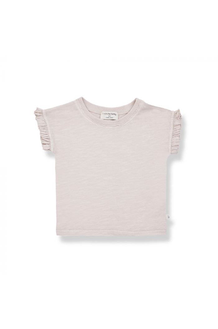 1+ in the family MIREIA Shortsleeve T-Shirt Rose_1
