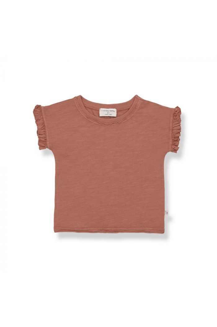 1+ in the family MIREIA Shortsleeve T-Shirt Roibos_1