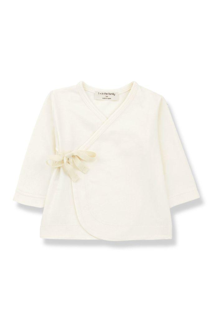 1+ in the family BABETTE newborn shirt ecru_1