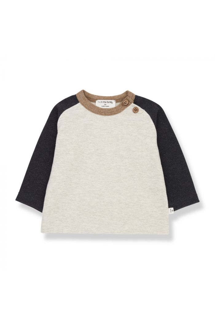 1+ in the family GUIM t-shirt Charcoal_1