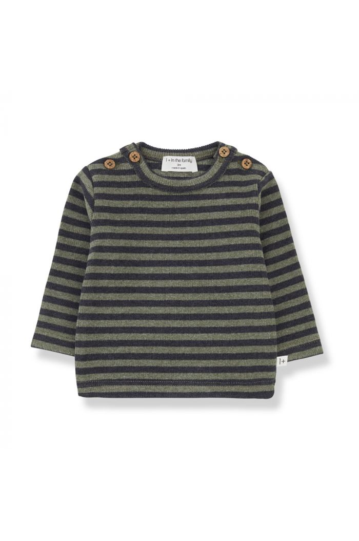 1+ in the family SANDRO t-shirt Olive_1