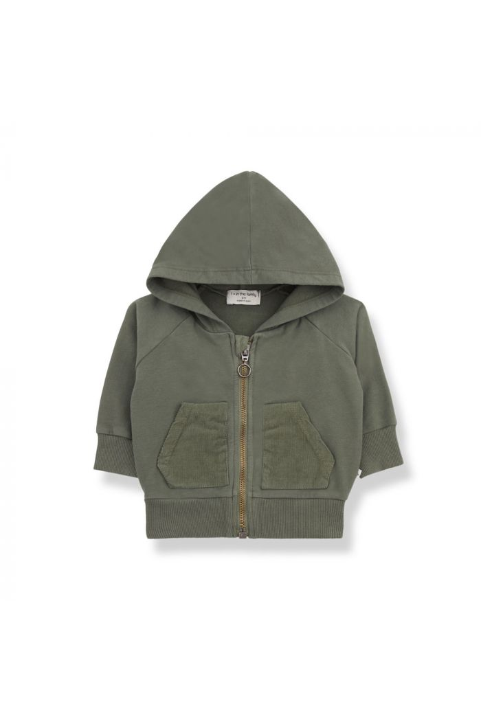 1+ in the family QUINN hood jacket Olive_1
