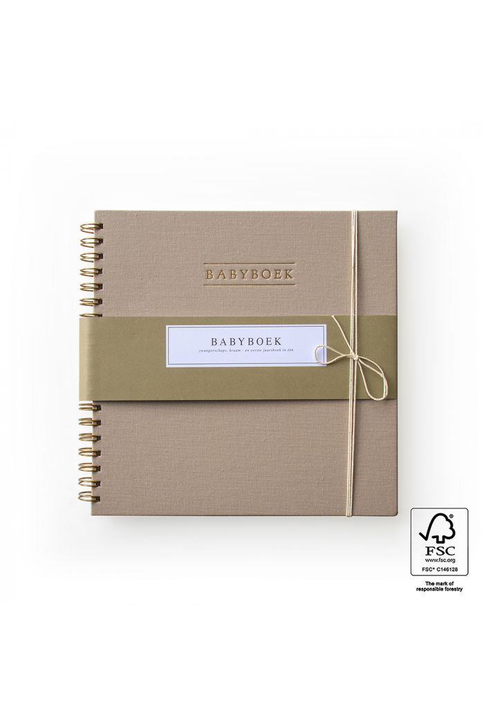 House of Products Babyboek -  Linnen Taupe _1