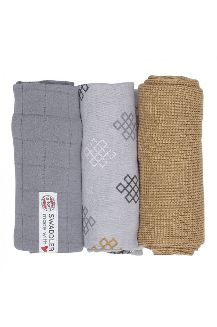Lodger Swaddler Empire knot 3 -pack Donkey