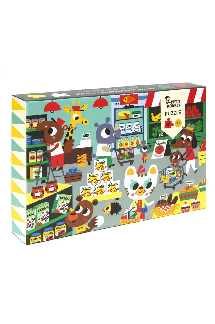 Petit Monkey In the supermarket puzzle 48 pcs
