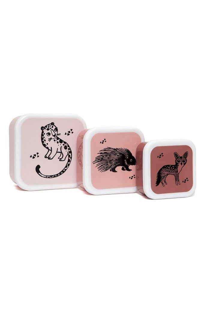 Petit Monkey Lunchbox Set Black Animals_1