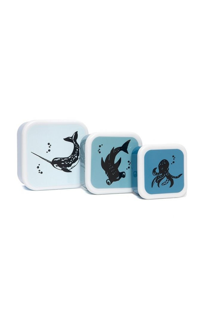 Petit Monkey Lunchbox Set Sea Animals