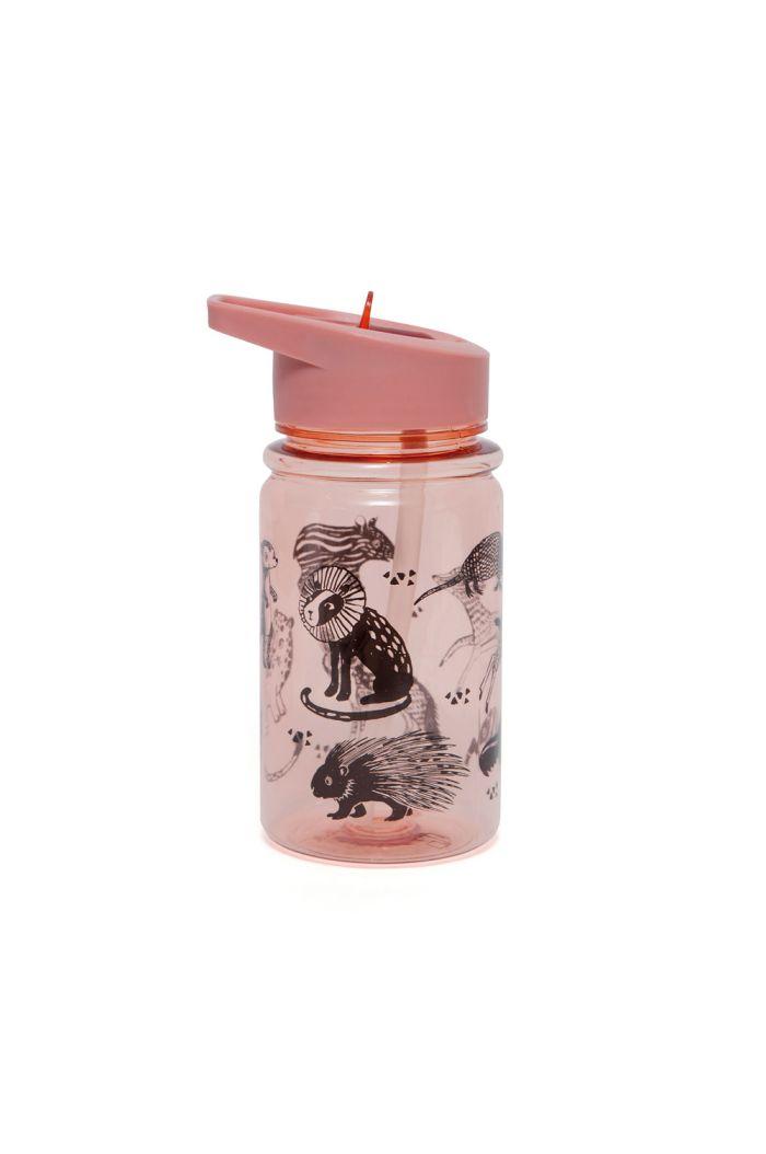 Petit Monkey Drinking Bottle Black Animals pink _1