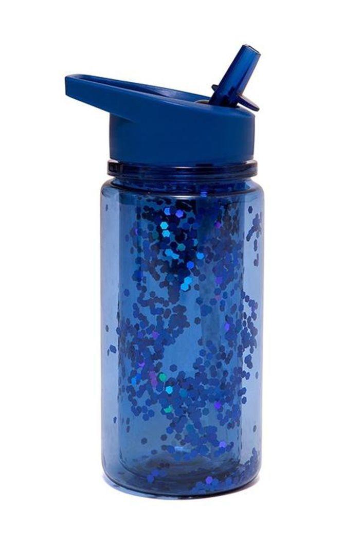 Petit Monkey Drinking Bottle Glitter Night Blue _1