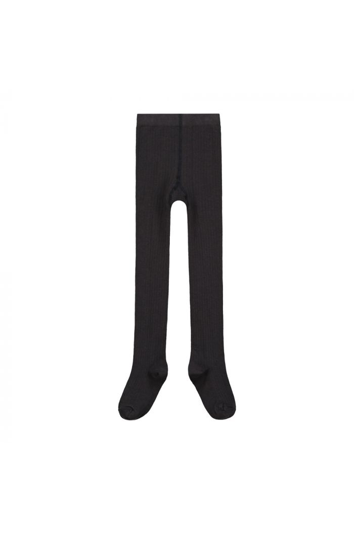 Gray Label Ribbed Tights Nearly Black