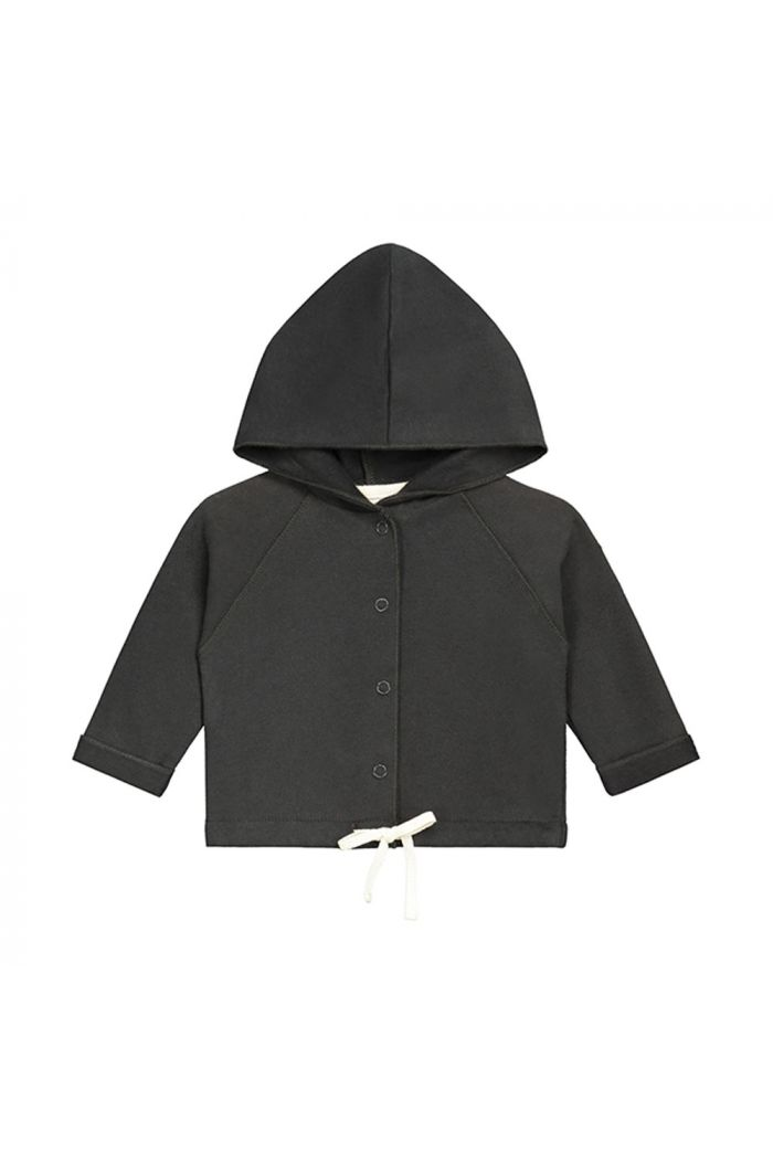 Gray Label Baby Hooded Cardigan Nearly Black_1