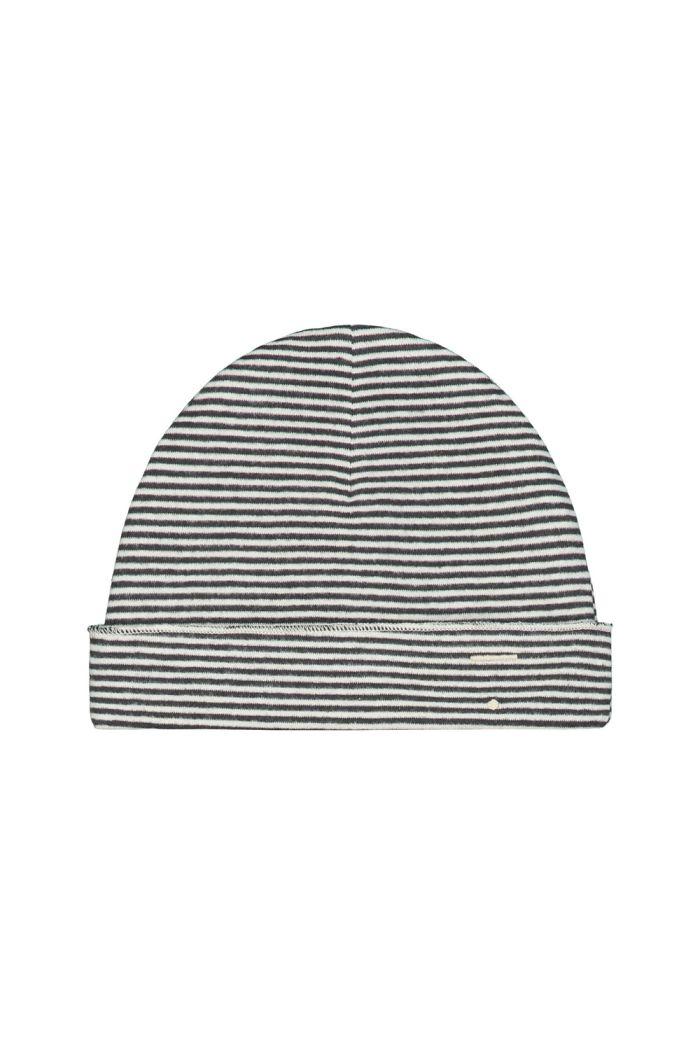 Gray Label Baby Beanie Nearly Black / Cream Stripe