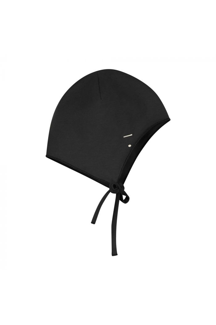 Gray Label Baby Hat with Strings Nearly Black_1