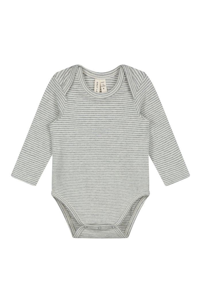 Gray Label Baby L/S Onesie Grey Melange / Cream_1