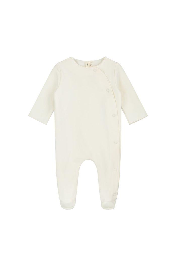 Gray Label Newborn Suit with Snaps Cream_1