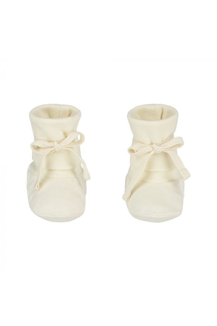 Gray Label Baby Ribbed Booties Cream_1