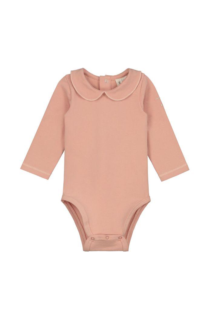 Gray Label Baby Collar Onesie Rustic Clay_1