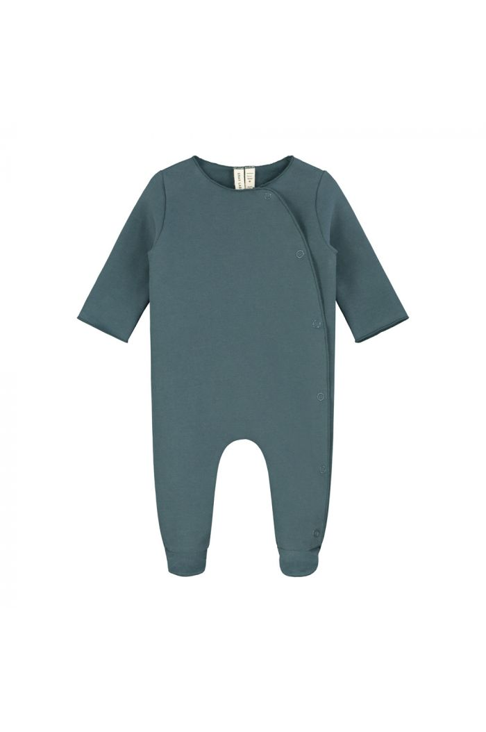 Gray Label Newborn Suit with Snaps Blue Grey_1