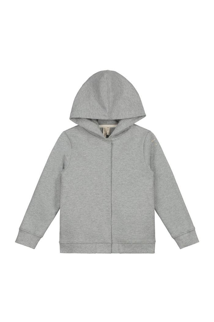 Gray Label Hooded Cardigan Grey Melange_1